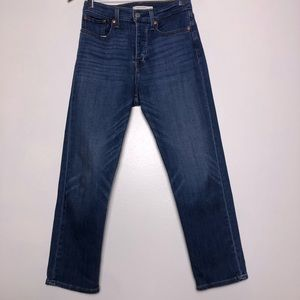 Levi's Wedgie Straight button fly jeans size 27